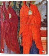The Three Marys At The Tomb Fragment 1311 Acrylic Print