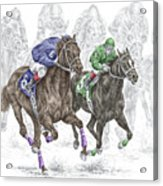The Thunder Of Hooves - Horse Racing Print Color Acrylic Print