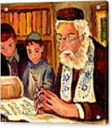 The Torah Scribe Acrylic Print