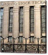 The Toronto Stock Exchange Acrylic Print