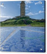 The Tower Of Hercules And The Rose Of The Winds Acrylic Print