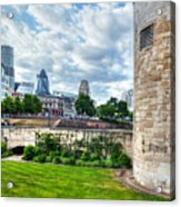 The Tower Of London And The City District With Gherkin Skyscraper, The Uk Acrylic Print