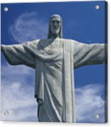 The Towering Statue Of Christ Acrylic Print