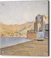The Town Beach Collioure Opus 165 Collioure La Plage De La Ville Opus 165 Acrylic Print