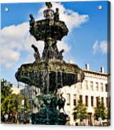 The Town Square Acrylic Print