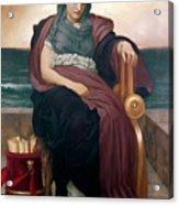 The Tragic Poetess Acrylic Print by Frederic Leighton