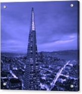The Transamerica Pyramid At Sunset Acrylic Print