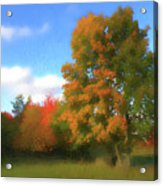 The Transition From Summer To Fall. Acrylic Print