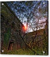 The Tree In The Fort - L'albero Tra Le Mura Del Forte Acrylic Print