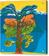 The Tree Of Life. From The Viking Saga. Acrylic Print