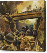 The Trenches Acrylic Print by Andrew Howat