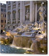 The Trevi Fountain At Dusk Acrylic Print by Scott S. Warren