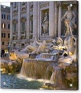 The Trevi Fountain At Dusk Acrylic Print