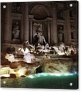 The Trevi Fountain In Rome Acrylic Print