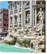 The Trevi Fountain In The City Of Rome Acrylic Print