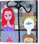 The Trippy Trinity Acrylic Print