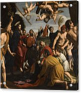 The Triumphal Entry Of Christ In Jerusalem Acrylic Print