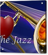 The Trombone Jazz 001 Acrylic Print