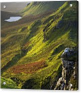The Trotternish Hills From The Quiraing Isle Of Skye Acrylic Print