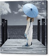 The Turquoise Parasol Acrylic Print