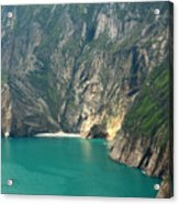 The Turquoise Water At Slieve League Sea Cliffs Donegal Ireland  Acrylic Print