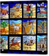 The Twelve Tribs Of Isral Acrylic Print
