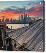The Twisted Pier Panorama Acrylic Print