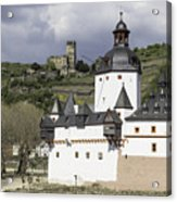 The Two Castles Of Kaub Germany Acrylic Print