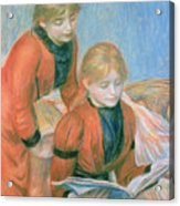 The Two Sisters Acrylic Print by Pierre Auguste Renoir