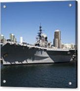 The U S S Midway Docked In San Diego Acrylic Print