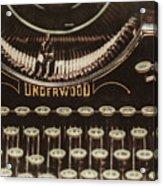 The Underwood Acrylic Print