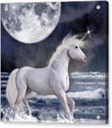 The Unicorn Under The Moon Acrylic Print