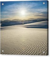 The Unique And Beautiful White Sands National Monument In New Me Acrylic Print