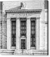 The United States Federal Reserve Bw Acrylic Print