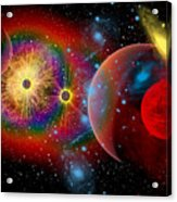 The Universe In A Perpetual State Acrylic Print by Mark Stevenson