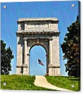 The Valley Forge Arch Acrylic Print