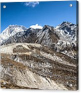 The Valley Leading To Mt Everest In Nepal Acrylic Print