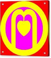The Very Secret Sacred Heart Of Om Acrylic Print