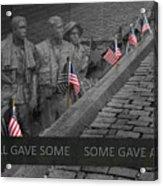 The Vietnam War Memorial Acrylic Print