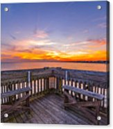 The View Folly Beach Sc Acrylic Print