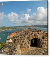 The View From Fort Rodney On Pigeon Island Gros Islet Caribbean Acrylic Print