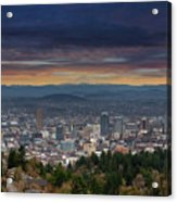 The View From Pittock Mansion Viewpoint Acrylic Print