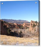 The View Of Red Rock Acrylic Print