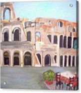 The View Of The Coliseum In Rome Acrylic Print