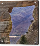 The  View Through The Angels'  Window Acrylic Print