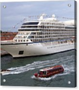 The Viking Star Cruise Liner In Venice Italy Acrylic Print