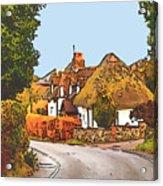 The Village Of Chilbolton Acrylic Print