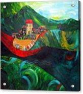 The Village Rivers I Acrylic Print