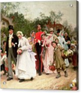 The Village Wedding Acrylic Print