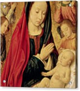 The Virgin And Child Adored By Angels  Acrylic Print by Jean Hey